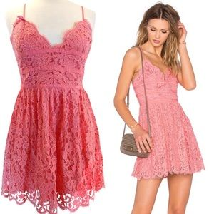 NWT NBD Give It Up Scalloped Lace Dress